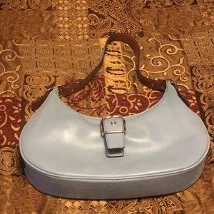 Light Blue Coach Satchel